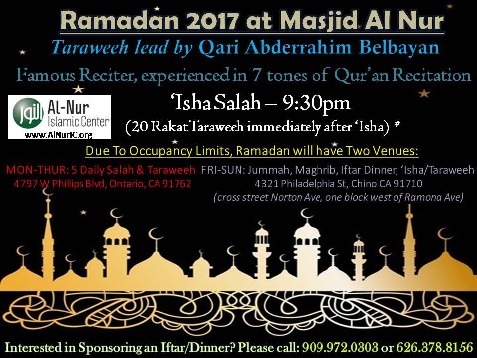 Ramadan 2017 flyer_Al Nur Ontario